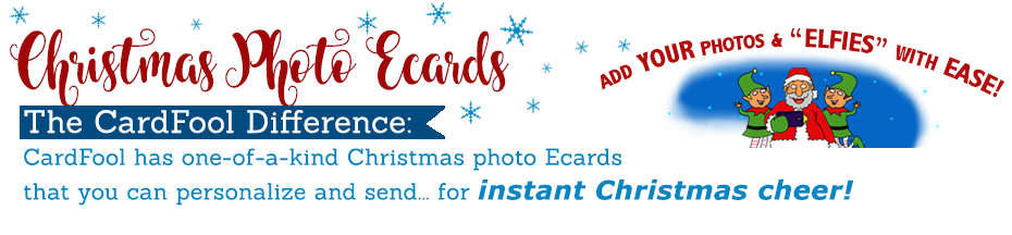 Digital Christmas Photo Cards, Christmas Photo Ecards - ne-of-a-kind Christmas Ecards sent instanly!  Free prinout included