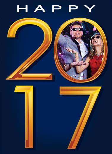 Funny Add Your Photo Card  2017 Happy New Year | add photo 2017 Happy New Year celebrate ball drop party midnight , Happy New Year