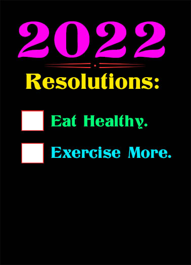 "2021 Resolutions Funny January Birthday   Send a wish with this fun ""2021 Resolutions"" birthday card or Ecard to put a smile on someone's face today."