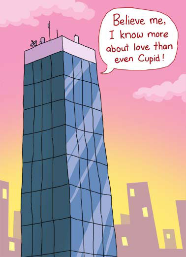 Funny Valentine's Day Card Funny Political President brags he knows more about love than cupid | united states president elect cupid valentines day city building tower wives cartoon illustration know political america oval office , Just ask my 3 wives.