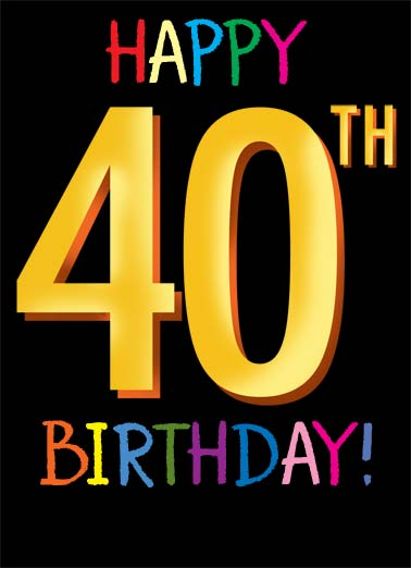 Birthday Ecards 40th Funny Free Printout Included