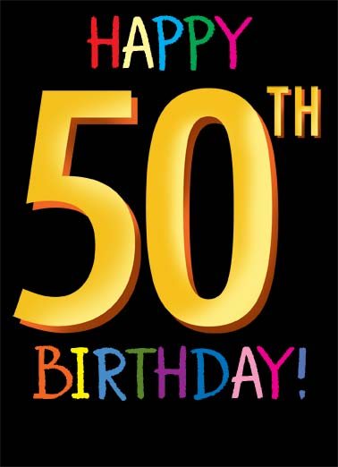 50th Funny Birthday  50th Birthday A birthday card saying 'Happy 50th Birthday'. | birthday milestone 50 50th happy birthday days old doesn't seem so bad You're officially 18,262 days old!