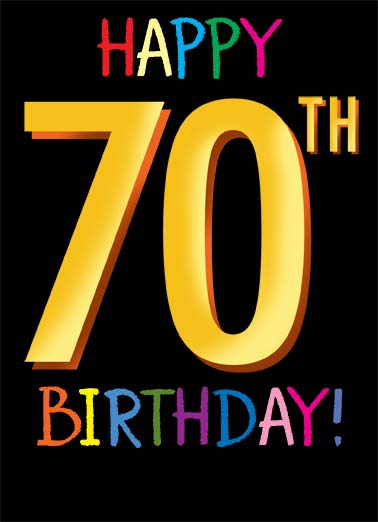 70th Funny Birthday A Card Saying Happy