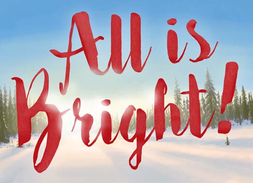 All is Bright Funny Christmas Card Happy Holidays  Best wishes for a Bright Holiday Season.