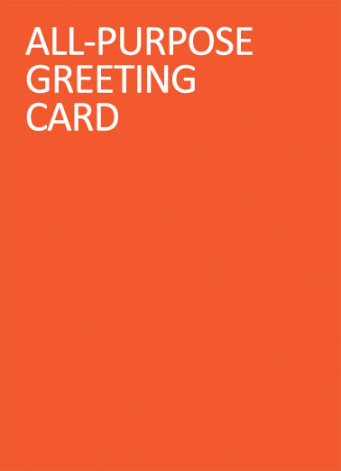 All-Purpose Funny For Any Time Card  All-Purpose Greeting. | all purpose greeting orange happy everything birthday simple limited sweet  Happy Everything!