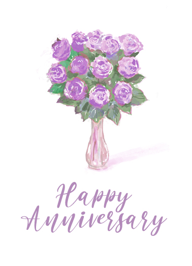 "Anniversary Rose Bouquet Funny Uplifting Cards Card Anniversary Send a wish with this sweet ""Rose Bouquet"" Anniversary card or Ecard to put a smile on someone's face today."