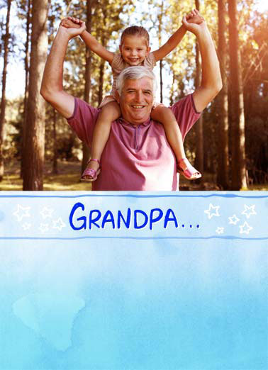 Another Word FD Funny Father's Day Card For Grandpa An add your photo card for your grandpa. | dad father farther's day grandpa star love another word add photo ...is just another word for LOVE.