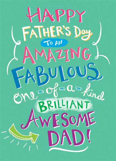 Funny Father's Day   Happy Father's Day father dad amazing fabulous brilliant on kind awesome takes after,