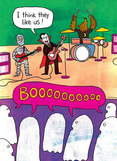 BOOO Funny Cartoons  Halloween Looks like a graveyard smash! | Dracula, fun, monsters, music, rock n' roll, comic, cartoon, illustration, cute, joke, meme, halloween, mash
