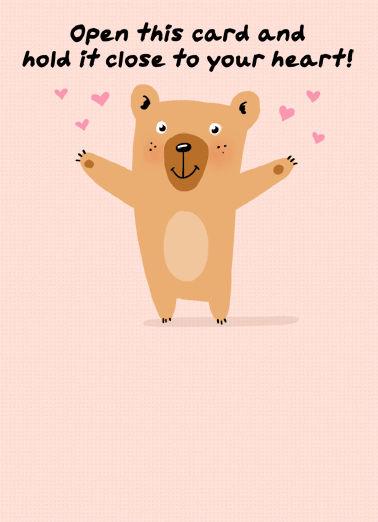 Bear Hug MD Funny Quarantine Card Mother's Day Send Mom a personalized greeting card for Mother's Day! | social distancing quarantine bear hug shelter in place love miss wish happy   It's a socially-distanced HUG from me to you.