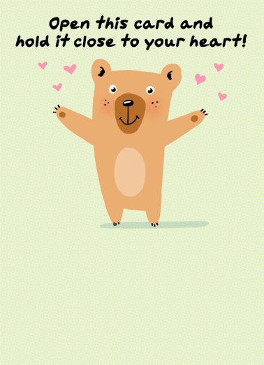Bear Hug Social Distance Funny Quarantine Card Sweet Send someone a personalized greeting card for their birthday today! | happy birthday hug social distancing quarantine  It's a socially-distanced HUG from me to you.  Happy Birthday