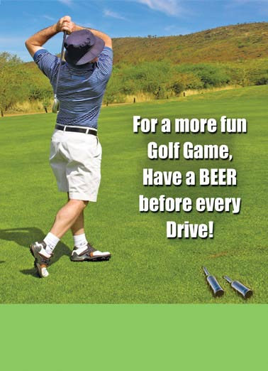 Beer Golf Funny Father's Day  Golf