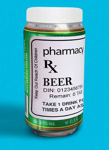 Funny  Card  beer prescription dad father father's day can pill pharmacy RX,  It's Father's Day, Take 2 of these and take it easy the rest of the day