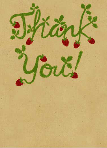 Thank You Berry Much Funny Thank You Card  Thank you card with berry lettering | strawberry, rustic, farm, thanks,  Thank you berry much