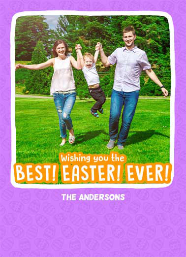 Best Easter Ever Funny Easter Card Add Your Photo  And A Very Happy Easter!