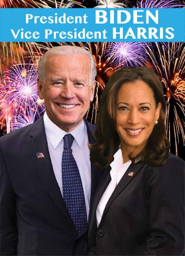"Biden Harris NY Funny New Year's Card  Send a wish with this funny ""Biden Harris"" Christmas card or Ecard to put a smile on someone's face today... and we'll include Free first-class postage on all printed cards and a free printout link on all Ecards that arrive instantly. 