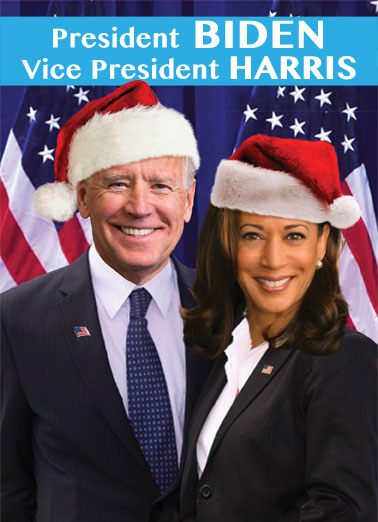 "Biden Harris XMAS Funny Christmas Card  Send a wish with this funny ""Biden Harris"" Christmas card or Ecard to put a smile on someone's face today... and we'll include Free first-class postage on all printed cards and a free printout link on all Ecards that arrive instantly. 