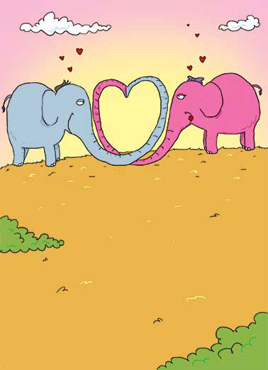 Funny Valentine's Day Card For Family elephant, trunk, big time, cartoon, illustration, cutesy, heart, hearts, love, valentine, adorable, sweet, rose, flowers, valentine picture, photo, image, romantic, love, kisses, kiss, boyfriend, girlfriend, husband, wife, spouse, significant other, lover, bae, red, personalized valentine card, happy, picture, expression, greeting card, sweet, loving, for her, for him, goofy, hilarious, witty, print, folded card, mail, recipient, february 14, special, wonderful, humor, warm, message, fresh, cute, friend, son, to, for, daughter, children, child, family, fun, real cards, printed, animal, whimsical, heart-warming, heart warming, sentimental, from the heart, wish, wishes, note, greetings,  Love you, BIG TIME!  Happy Valentine's Day
