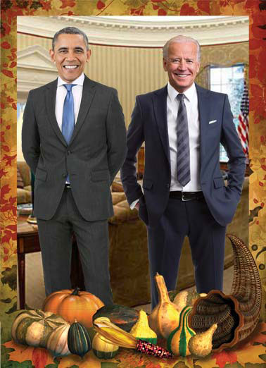 Big Turkeys Funny Thanksgiving Card  Two big turkeys in the White House | Barack Hussein Obama Joe Biden oval office president vice president big turkey turkeys white house  It wouldn't be Thanksgiving without a couple of Big Turkeys.