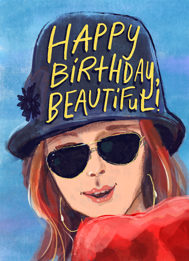 "Birthday Beautiful Funny Birthday Card For Her Send a wish with this stylish ""Happy Birthday, Beautiful"" Birthday card or Ecard to put a smile on someone's face today."