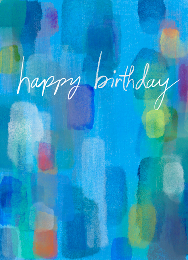 "Birthday Colors Funny One from the Heart Card Birthday Send a wish with this whimsical ""Lots of Love"" colorful Birthday card or Ecard to put a smile on someone's face today... and we'll include Free first-class postage on all printed cards and a free printout link on all Ecards that arrive instantly.  ...with Lots of Love!"