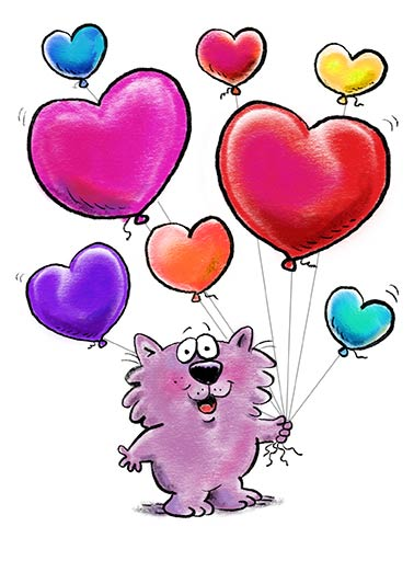 Birthday Heart Balloons Funny Birthday Card  Cute and Sweet Wishes for a Heartfelt Happy Birthday Happy Happy Birthday!