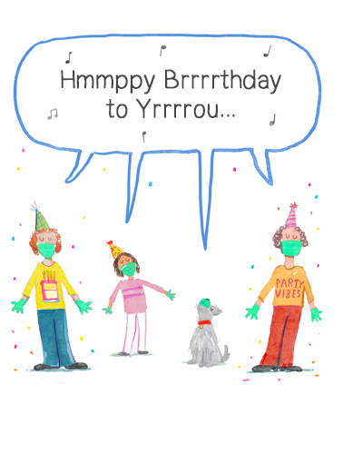 "Birthday Singers Funny Birthday   Send a wish with this fun ""Social Distanced Singers"" Birthday card or Ecard to put a smile on someone's face today."