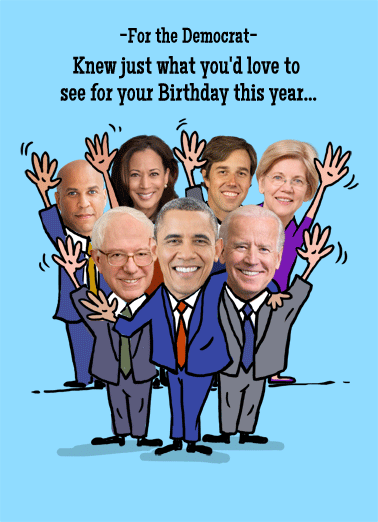 Happy Birthday Democrats Cake