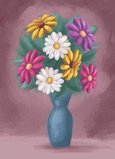 Bouquet Sympathy Funny Flowers Card  Sympathy greeting cards, beautiful painted flower bouquet on a sympathy greeting card, With deepest sympathy,