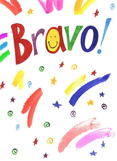 Bravo Funny 5x7 greeting Card
