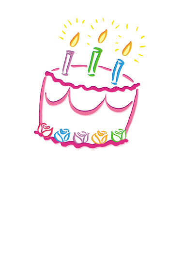 Bright Cake Funny Birthday Card Simply Cute Cute Cake | bright, cake, candles, colors, fire, happy, birthday, rainbow, colorful, cute, sweet, pretty, beautiful, sweet, frosting, artistic, comic sans  Happy, Happy, Birthday!