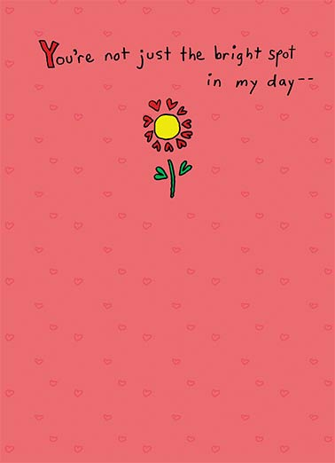 Funny Valentine's Day Card Love ,  You're the Sunshine of my Life!  Happy Valentine's Day
