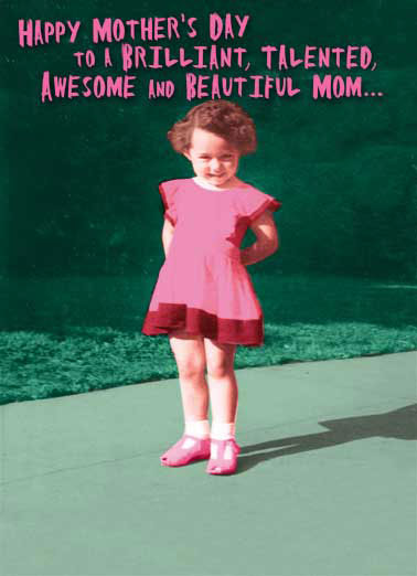 Brilliant Mom Funny Vintage Card