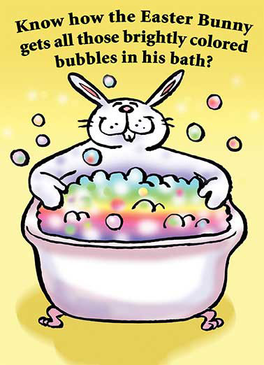 Bubble Bath Funny Cartoons  Easter  Jelly Beans