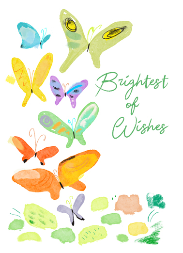 "Butterflies Funny One from the Heart Card Birthday Send a wish with this sweet ""Butterflies"" Birthday card or Ecard to put a smile on someone's face today... and we'll include Free first-class postage on all printed cards and a free printout link on all Ecards that arrive instantly.  For a Wonderful Birthday!"