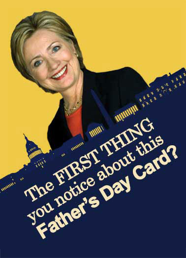 Card is Crooked Dad Funny Hillary Clinton  Funny Political Crooked Father's Day Card | Hillary, clinton, funny, political, republican, democrat, hilarious, cute, washington, dc, swamp, drain, monuments, crooked, email, scandal It's pretty CROOKED!