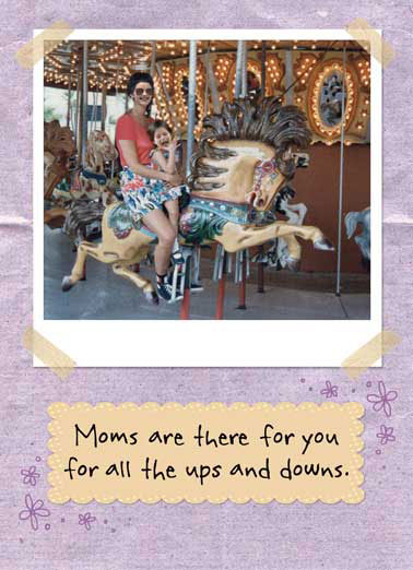 Funny Mother's Day   Carousel, Merry Go Round, Mom with Daughter, Funny, Joke, Cute, Mother's Day Wishes, Carnival Fun, Ups and Downs, Mom, Scrapbook, Love, LOL, Happy Mother's Day, Grandma!