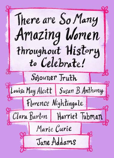 Celebrate Women Funny Birthday  For Wife There are so many amazing women throughout history to celebrate including you! ...and you!
