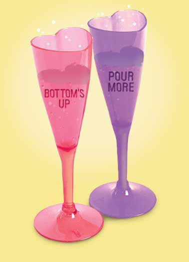 Champagne Hearts Funny Valentine's Day Card Drinking   (Those little candy hearts just don't cut it anymore!) Happy Valentine's Day
