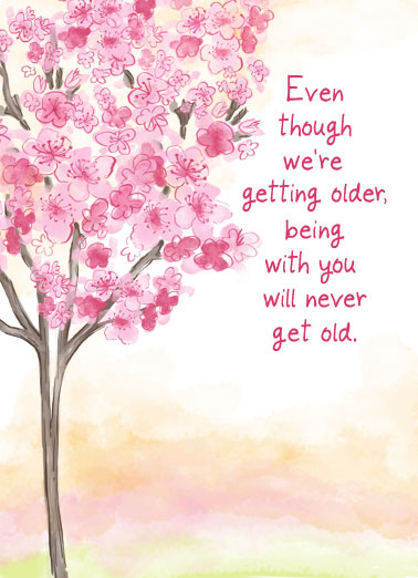 Cherry Blossom Anniv Funny Uplifting Cards Card Anniversary Celebrate an Anniversary by sending a personalized greeting card today! | I love you celebration growing getting older together better times ahead watercolor  Happy Anniversary and I love you