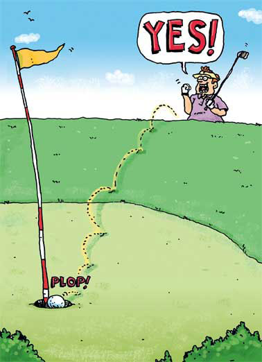 Chip In Funny For Him Card Golf Golfing, Funny Golf Card, Jokes, Birthday Cards for Him, Hilarious, Golf Terms, LOL, Guy Cards, Birthday Golf, Laughs, Cartoon, Beer, Chip In, Yes  Let the Good Times ROLL! Happy Birthday