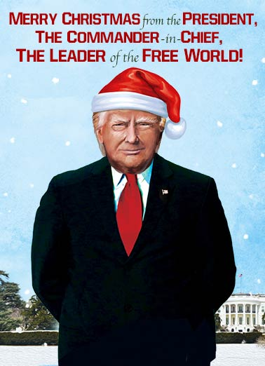 card christmas commander funny president donald trump christmas donald trump christmas commander in chief