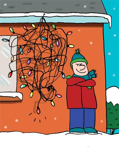 Christmas Lights Funny Christmas Card Cartoons