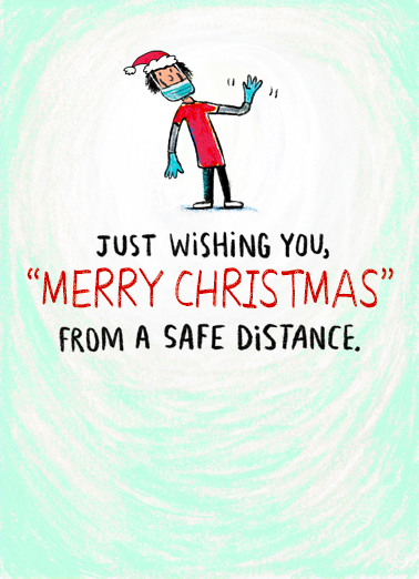 "Christmas Safe Distance Funny Christmas Card Quarantine Send a wish with this fun ""Safe Distance"" Christmas card or Ecard to put a smile on someone's face this holiday season."
