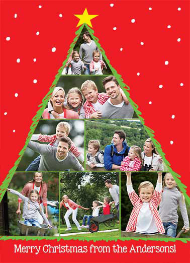 Christmas Tree Photos Funny Christmas Card Happy Holidays