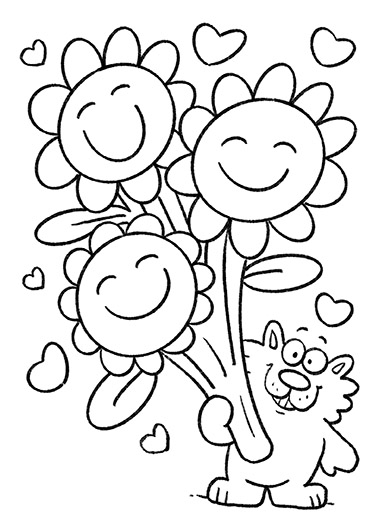 Color the Bear Funny Mother's Day Card For Mom Looking for a great way for a child to say Happy Mother's Day to Mom? This cute coloring card can be personalized and colored using markers or crayons.  Color your card, and give it to Mom this Mother's Day.  Mom-Love You So Much! Happy Mother's Day