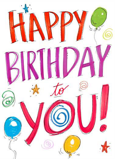 Colorful Birthday Wishes Funny For Kid Watercolor Cards Lettering