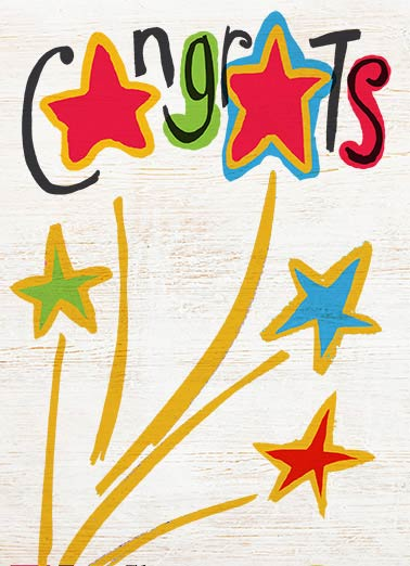 Star Funny Congratulations Card Simply Cute