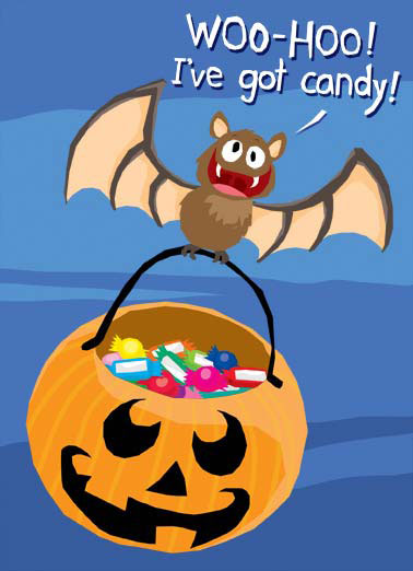 Crazy Bat Funny Cartoons  Halloween A crazy cartoon bat carrying halloween candy. | cartoon crazy bat halloween candy sweet carry carrying night fly flying wing wings twilight stars moon  Have fun on Halloween, just try not to go bat sh*t crazy!