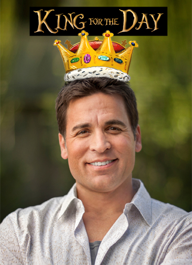 Crown Dad King Funny Father's Day  From Wife Upload a photo of your favorite Dad, and make him Royalty on Father's Day, with this funny personalized Ecard from CardFool.   Happy Father's Day, Your Lordship!